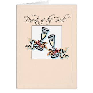 Parents of Bride Toast Greeting Card