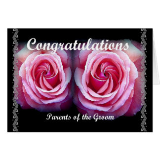 PARENTS of the GROOM - Wedding Congratulations Greeting Card