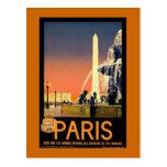 Paris Vintage Travel Poster Postcard