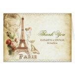 PARIS wedding thank you cards