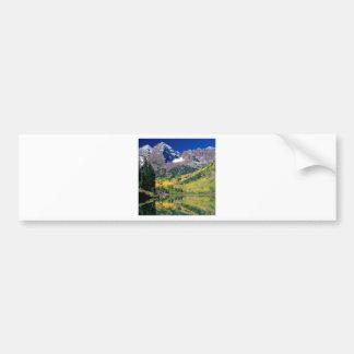 Park Maroon Bells White River Forest Colorado Bumper Sticker