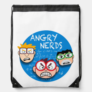 Parody of your favorite phone game: Angry Nerds, Drawstring Bag