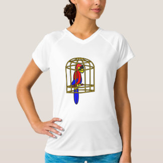 Parrot In A Cage Womens Active Tee