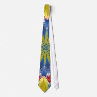 Parrot kaleidoscope tie