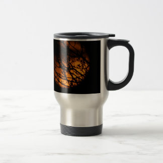 Partial Lunar Eclipse Silhouette Stainless Steel Travel Mug