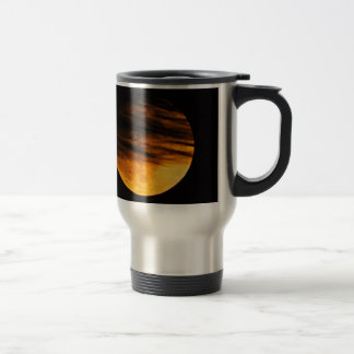 Partial Lunar Eclipse Stainless Steel Travel Mug