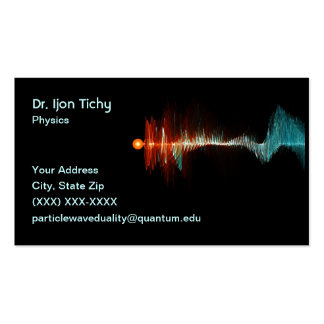 Particle-Wave Duality Physicist Pack Of Standard Business Cards