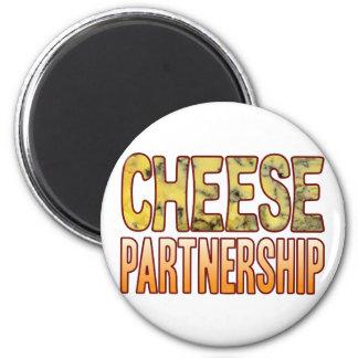 Partnership Blue Cheese 6 Cm Round Magnet