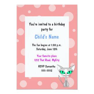 Party Cat Children's Birthday Invitation