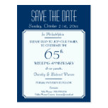 Party, Event or Reunion Save the Date in Blue Postcard