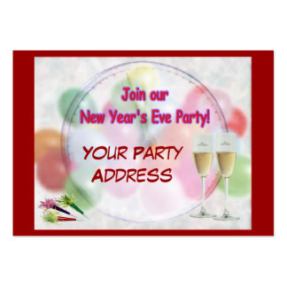 Party Invitation Hand-Outs Pack Of Chubby Business Cards