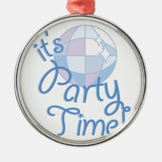 Party Time Silver-Colored Round Decoration