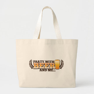PARTY WITH BEER and me alcohol beers design Jumbo Tote Bag