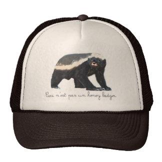 Pas Un Honey Badger Trucker Hat