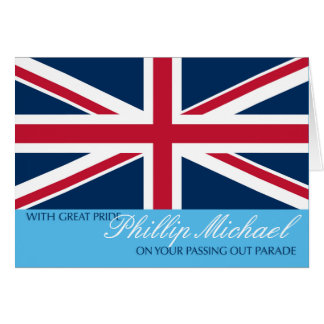 Passing Out Parade Congratulations Add Any Name Greeting Card