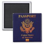 PASSPORT(USA) SQUARE MAGNET