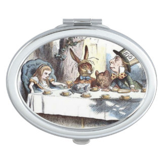 Pastel Mad Hatters Tea Party Compact Mirrors For Makeup