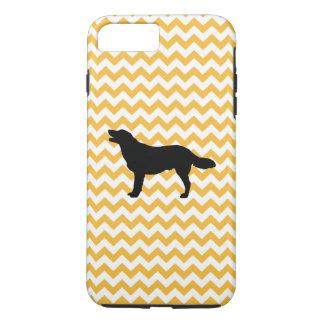 Pastel Orange Chevron With Golden Retriever iPhone 7 Plus Case