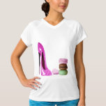 Pastel Pink Stiletto and French Macaroons Art Tshirt