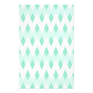 Pastel Teal Zigzag Pattern with Diamond Shapes. 14 Cm X 21.5 Cm Flyer