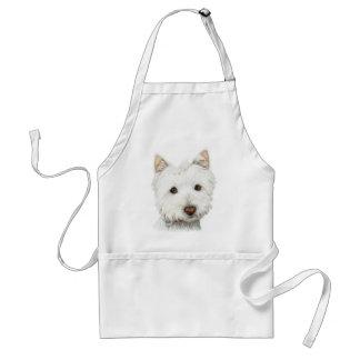 Pastel Westie Dog Standard Apron