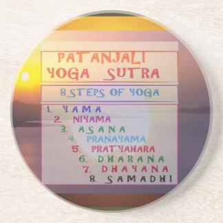 PATANJALI Yoga Meditation Sutra List Sandstone Coaster