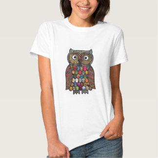Patchwork Owl Tee Shirts