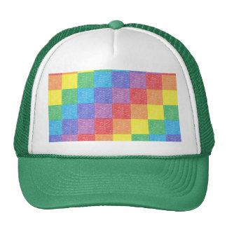 Patchwork Rainbow Mesh Hat