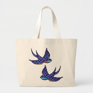 patchwork swallows white bag