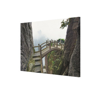 Pathway and small bridge, Yellow Mountain, Canvas Prints
