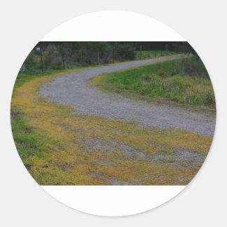 pathway at lillydale lake round sticker