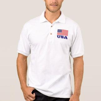 Patriotic polo shirts with American flag | USA