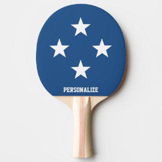 Patriotic star design ping pong paddle