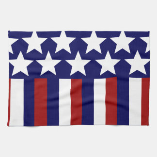 Patriotic Stars Stripes Freedom Flag 4th of July Kitchen Towels