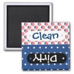 Patriotic Stars Stripes Freedom Flag 4th of July Square Magnet