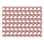 Patriotic Stars Stripes Freedom Flag Hearts 4th of Postcard