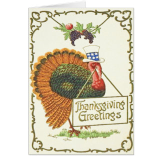 Patriotic Thanksgiving Greeting Card