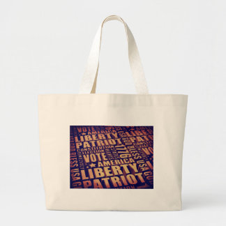 Patriotic Typography Jumbo Tote Bag