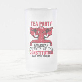 Patriots Of The Constitution. Frosted Glass Mug