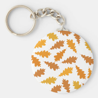 Pattern of Autumn Leaves. Basic Round Button Key Ring