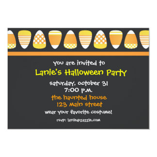 Patterned Candy Corn Invitations