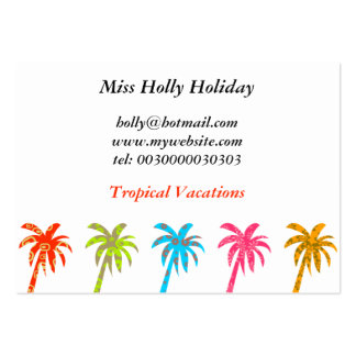 Patterned Palm Trees, Miss Holly Holiday, Pack Of Chubby Business Cards