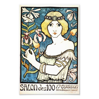 Paul Berthon Salon Des Cent Vintage Art Nouveau Photographic Print
