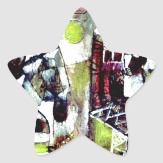 Paul Klee art - Swamp Legend, famous Klee painting Star Sticker