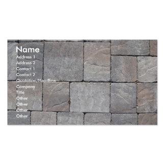 Paving blocks pack of standard business cards
