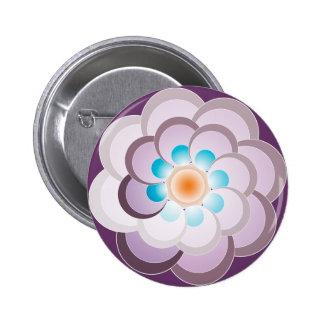 Pavo real lila. Button