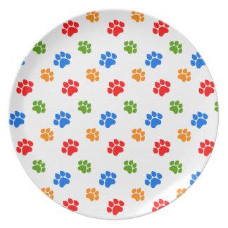 Paw print plates