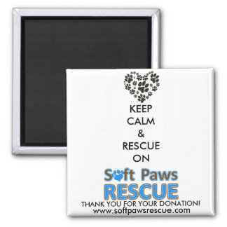 Paw's for Cause Square Magnet