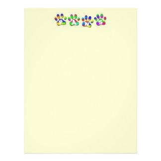 Paws Rainbow Color Pawprints Letter 21.5 Cm X 28 Cm Flyer