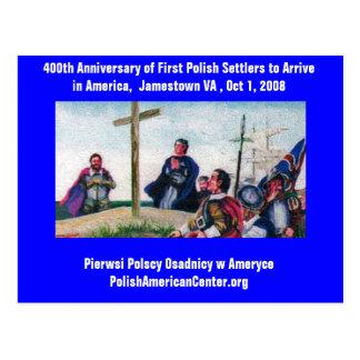 PC 400th Anniversary First Polish Settlers Postcard